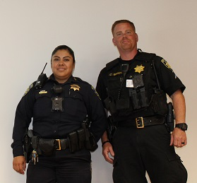 Two police officers side by side