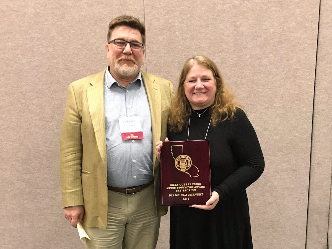 Mr. Lengacher and Ms. Klaczynski, 2019 Outstanding Music Educator Award