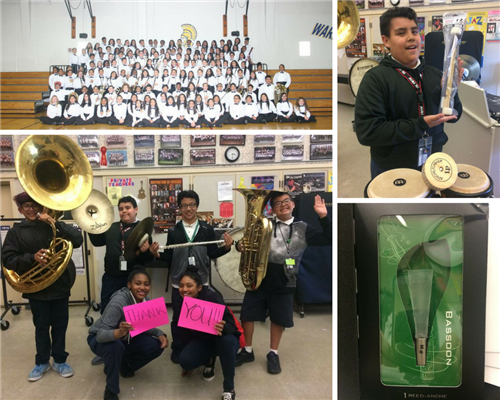 Hillview Bands say THANK YOU for supporting Salsa Time! Donors Choose campaign!
