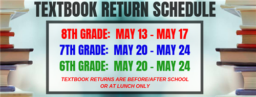 Textbook Return Schedule