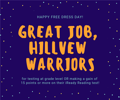 Great job, Hillview Warriors!