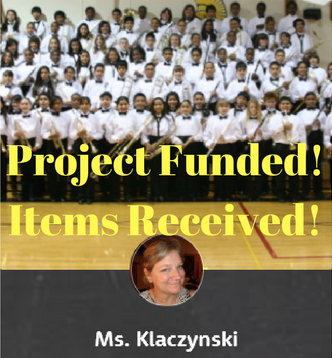 Ms. K's Salsa Time Donors Choose Project Funded and Items Received