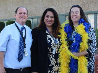 Mr. Lucido, Ms. Campos and Ms. Leber - Hillview's Admin Team