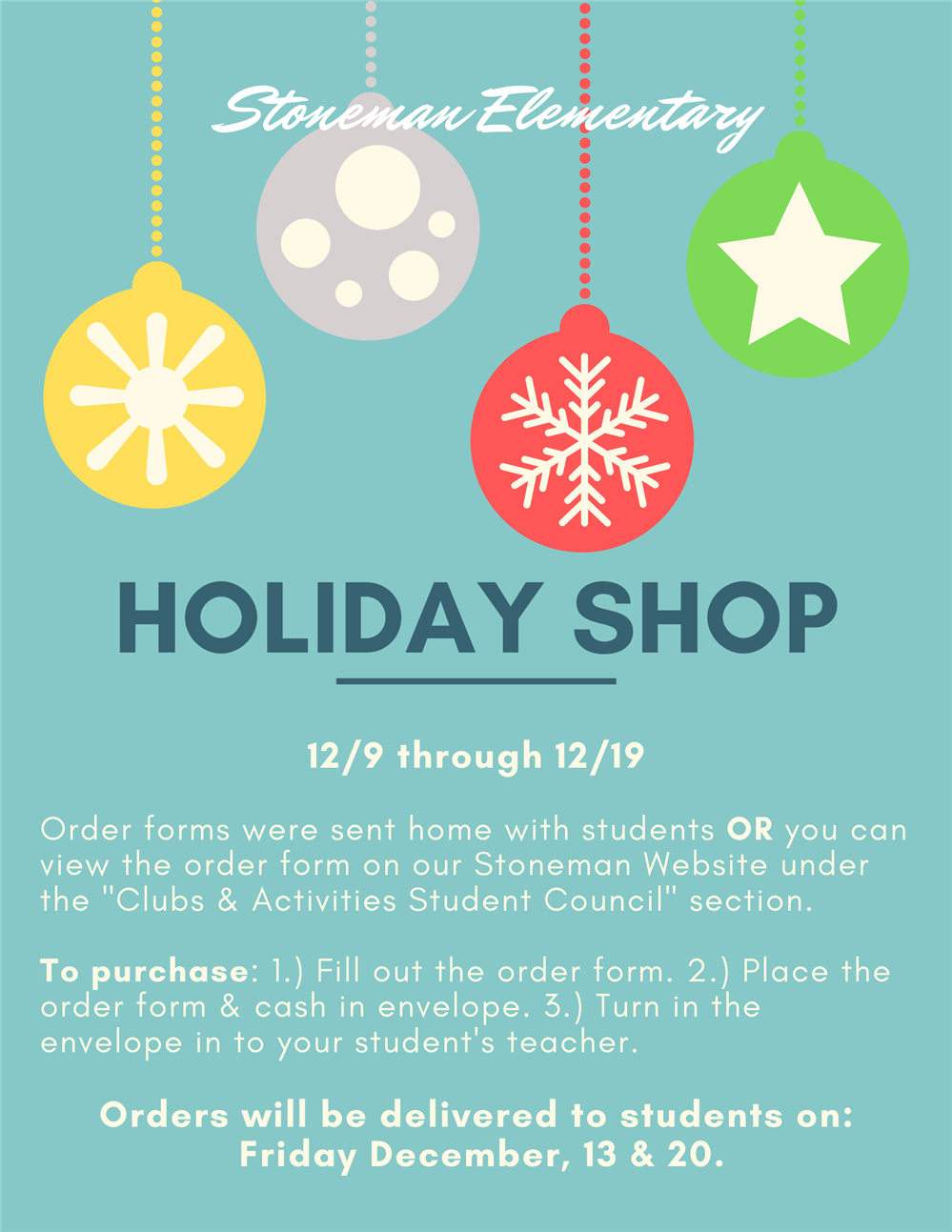 Holiday Shop Flyer