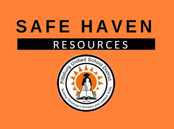 Safe Haven Resources on orange graphic