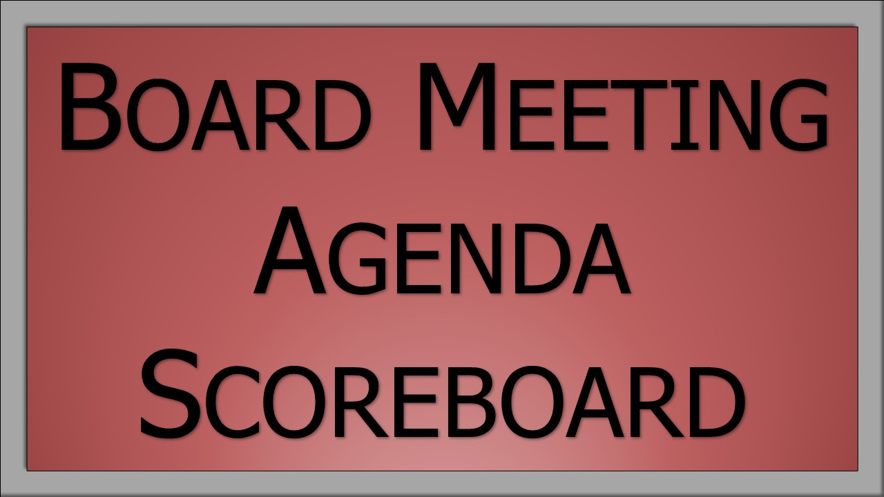 Board Docs Meeting Scoreboard