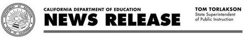 California Department of Education Header for Press Release